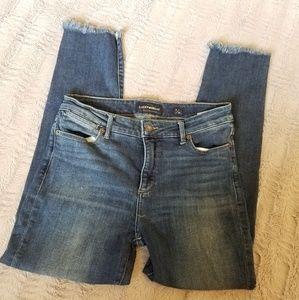 Lucky Brand Hayden Crop Frayed Hem Jeans
